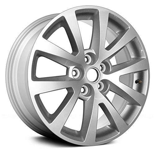 Replacement 5 Double Spokes All Painted Bright Sparkle Silver Factory Alloy Wheel Compatible with Ch