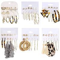 Makone 36 Pairs Fashion Earrings