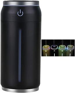 3 en 1 Humidificador de Aire Portátil Mini Ventilador USB Led Humidificadores de Luz Nocturna para la Oficina en Casa Bebé Habitación Coche Camión de Viaje,Black