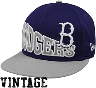 best loved d6862 2c75e MLB New Era Brooklyn Dodgers Navy Blue-Gray Cooperstown Stoked Snapback Hat