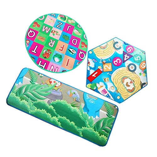 perfeclan 3pcs Baby Kids Play Mat - Alfombra de Arrastre Suave de La Actividad Del Niño Del Piso de La Espuma