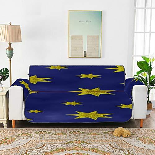 WYYWCY Star Sky Starry Sky Space Night Universe Sofá Azul Funda móvil Fundas de sofá Seccional Funda elástica elástica de 66'(168 cm) para 3 Asientos Funda para Silla con Brazo de Lavado a máquina