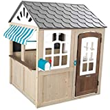 KidKraft Hillcrest Wooden Outdoor Playhouse with EZ Kraft Assembly, Ringing Doorbell, Mailbox and Awning ,Gift for Ages 3-10