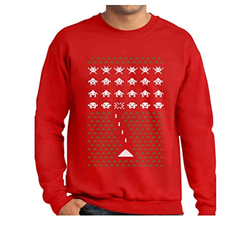 Tstars Space Geeky Ugly Christmas Sweater Style Invaders Funny Xmas  Sweatshirt 6bdaa7a17