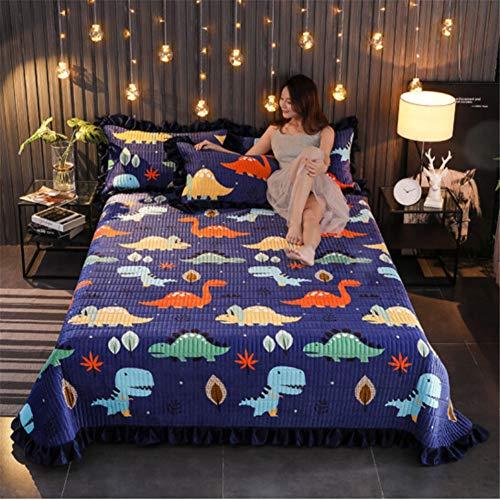 misshxh flanel deken, Cartoon dinosaurus-patroon ontwerp super zachte en comfortabele bladeren, geschikt voor Office Nap slaapbank deken 100x120cm