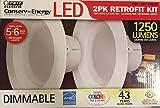 Feit Electric, LED 2 Pack Retrofit Kit, Replaces 5-6 inch, Soft White 2700K, 1250 Lumens