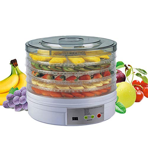 Best Prices! Electric Food Dehydrator-5 Trays Food Preserver Adjustable Temperature Control Dryer fo...