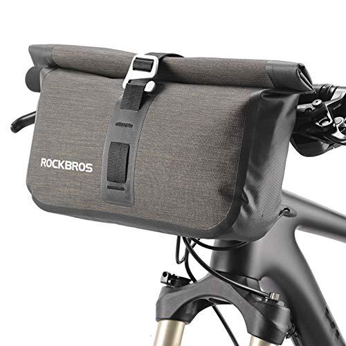 ROCKBROS Fahrrad-Lenkertasche, wasserdicht, 6 l, für Mountainbikes, Straßenfahrräder