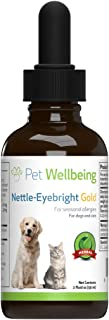 Pet Wellbeing Nettle-Eyebright Gold for Dogs - Natural Support for Dog Allergies - 2oz (59ml)