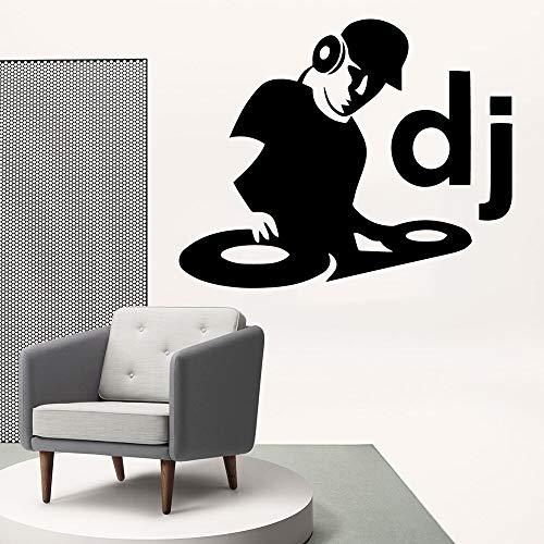 Mode Dj Muziek Vinyl Muursticker voor Woonkamer Decoratie Decals Slaapkamer Behang Art muursticker