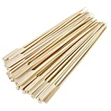 Gmark Bamboo Paddle Skewers 8' 100pc/Bag, Kabob Skewers, BBQ Skewers for Outdoor Grilling GM1076