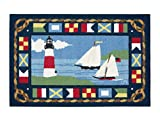 Area Rugs Kitchen Rugs Indoor Outdoor Claire Murray Washable Rugs 30x46' Sailboats