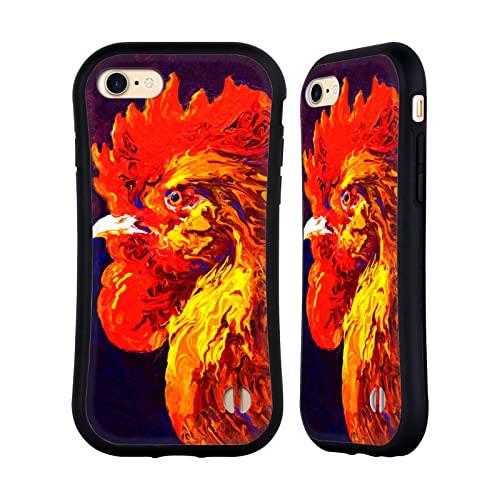 Head Case Designs Licenciado Oficialmente Marion Rose Joya Gallo Carcasa híbrida Compatible con Apple iPhone 7 / iPhone 8 / iPhone SE 2020