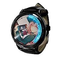 2021年新ブランド漫画 ダンガンロンパ アニメ男性女性時計男の子女の子アウトドアスポーツ時計革クォーツ時計-A4