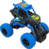 FunBlast Unbreakable Monster Truck Toy - Friction Power Push and Go Crawling Rock Crawler Toy for Kids|Boys (Blue)