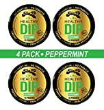 TeaZa Energy Smokeless Tobacco Alternative (4 Pack Peppermint) Helps You Quit Chewing Tobacco Snuff - Nicotine Free Herbal Energy Dip - Flavored Tobacco Free Chew Helps You Quit Dipping - Peppermint