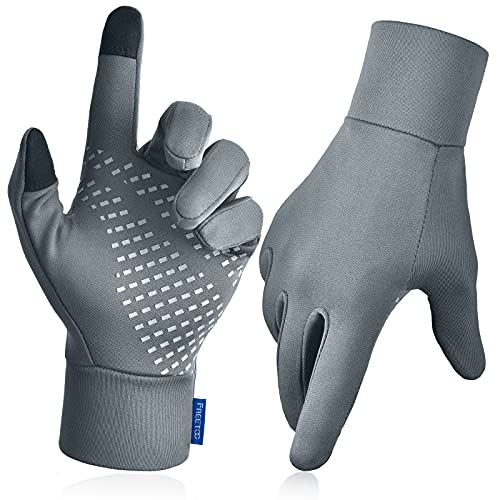Touchscreen Warm Running Gloves for Men Women, [Lightweight] [Excellent Dexterity] Thin Winter Gloves for Driving, Golf, Tennis Sports, [Snug-fit] [Soft] Cold Weather Gloves Liners for Thermal