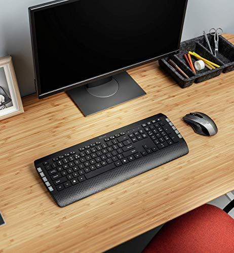 Trust Tecla-2 Kabellose Tastatur und Maus (Wireless Tastatur Maus Set, Deutsches QWERTZ Layout, Ergonomisches Design) schwarz