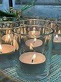 Homes on Trend Portavelas de té con forma de T y luz de cristal votivo para boda, centro de mesa, decoración decorativa estante de...