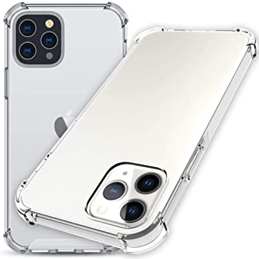 """Wild Tiger Collection Designed for iPhone 12 Max Clear Case with Shockproof Air Corners Drop Protection for iPhone 12 Pro Max 6.7"""""""