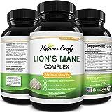 Nootropic Lions Mane Mushroom Capsules - Lion's Mane Mushroom Complex Immune System Booster and...