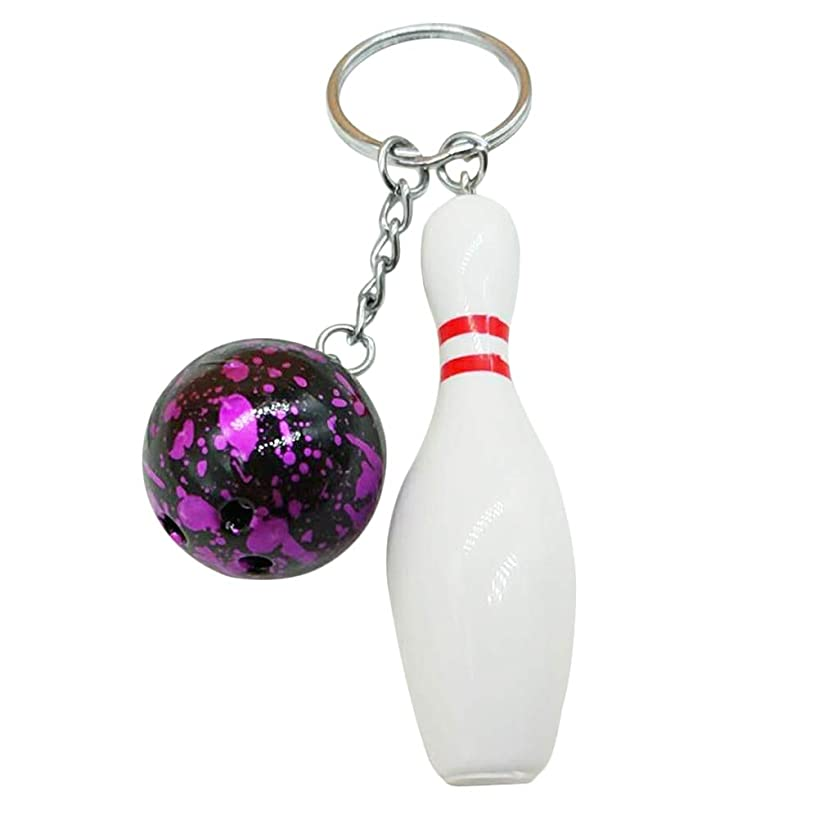 Quietcloud Cute Keychain Fashion Bowling Ball Pendant Keychain Bag Car Hanging Ornament Key Ring Holder Keychains