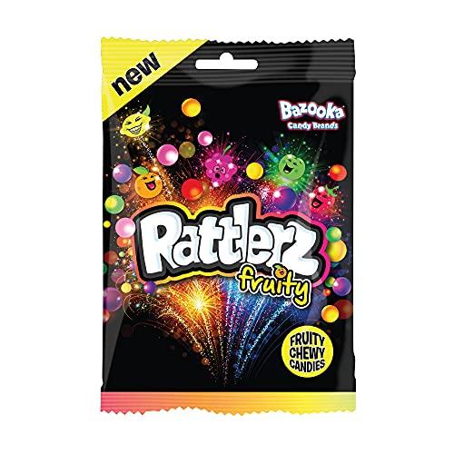 Bazooka Rattlerz Fruity Chewy Sweets, Mixed, 120 g