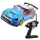 RC Car Drift Racing Car, RC Car 1:10 2.4G con diseño de textura cóncava-convexa con fuerte agarre de los neumáticos y lleno de motivación Diversión ilimitada(Accionamiento eléctrico simple)
