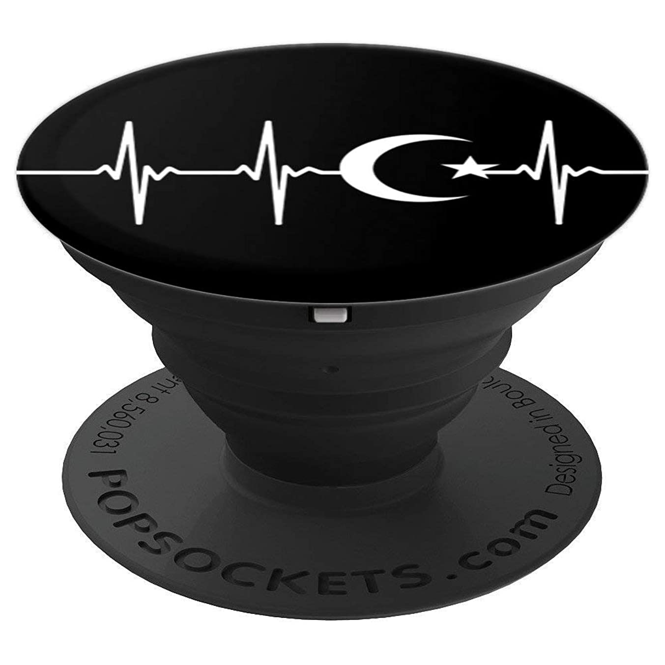 Islam Muslim Heartbeat EKG - PopSockets Grip and Stand for Phones and Tablets