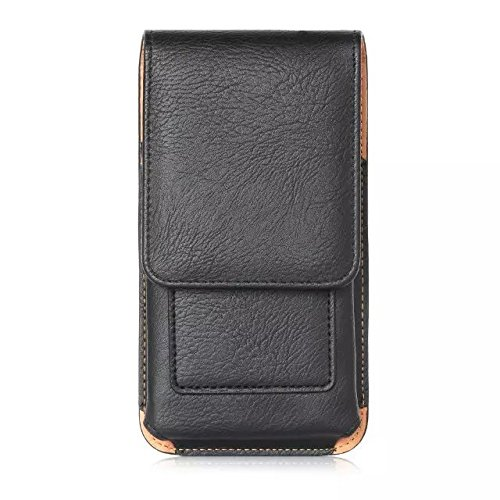generia blu Dash Funda para teléfono móvil de rotación vertical 5.0Funda PU Pistolera teléfono celular Negro