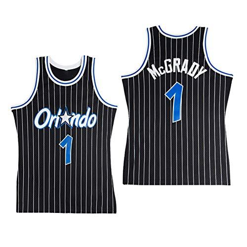 Los Orlando Magic # 1 Anfernee Hardaway Vestir De Las Tapas De Malla Bordada Baloncesto Baloncesto Alero Camisetas Deportivas,A,S:165~170cm//50~65kg XSJY Camiseta De Baloncesto De Los Hombres