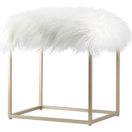 Amazon Com Vanity Stool Makeup Stool Stool Chair Fuzzy Vanity Stools For Bedroom Vanity Stools For Bathroom Vanity Chairs And Stools Vanity Benches Color Champagne Size 364449cm Furniture Decor