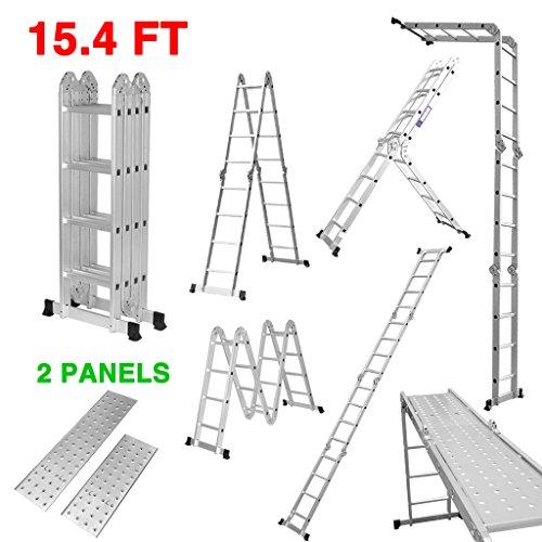 Finether 15.4ft Telescoping Ladder Multi Purpose...