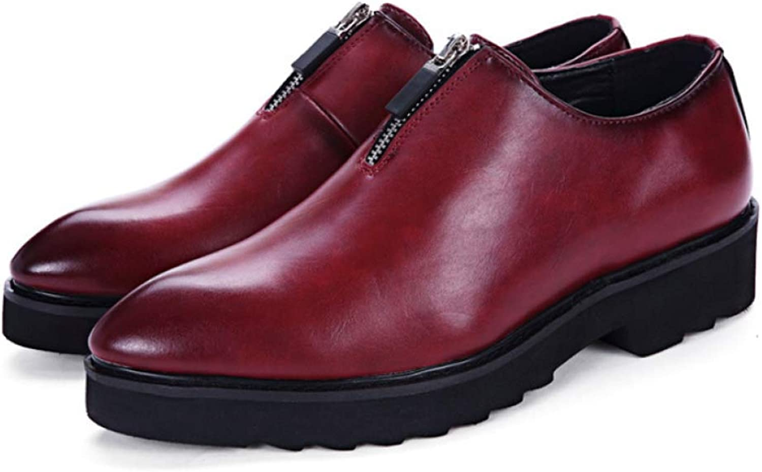 NIUMT Men's Leather shoes Business Casual tip Korean Version of The British