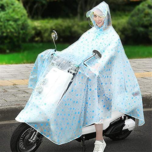GPWDSN Regenmantel mit Kapuzenmantel, wetterfester Poncho-Motorrad Verdickte Regenhülle, hält Dich an regnerischen Tagen trocken