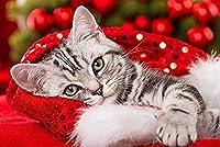 大人のためのXIZYUパズル1000ピースクリスマスかわいい猫、楽しいゲーム家の装飾ジグソー、親子インタラクティブゲームジグソー