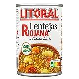 LITORAL Lentejas Riojana - Plato Preparado de Lentejas Riojana Sin Gluten - 425g