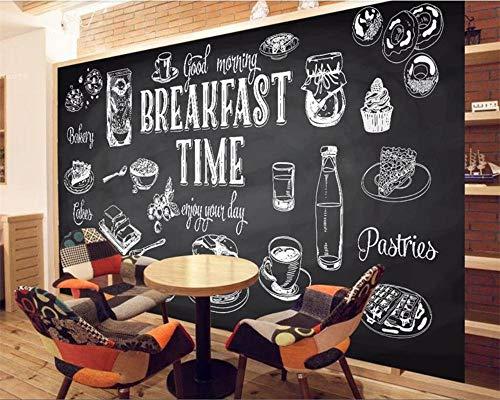 HDDNZH muurschildering Custom 3D grote muurschildering behang in Europese stijl met handgeschilderd zwart en wit restaurant TV sofa achtergrond muur woonkamer slaapkamer huis decoratie 280cm(H)×460cm(W)