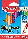 WIGO - Pastelli Triangolari Color' Peps Mini In Scatola Da 12 Pz Mina Grande Infrangibile 2,9 Mm