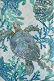 Sea Life Swimming Among Seaweed Vinyl Flannel Back Tablecloth (52' x 70' Oblong)