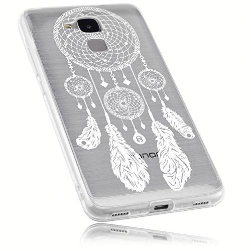 mumbi Hülle kompatibel mit Honor 5C Handy Case Handyhülle mit Motiv Traumfänger, transparent