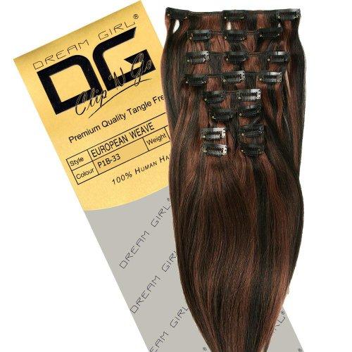Dream Girl 35,6 cm Extensions de cheveux à clipser Couleur 1B/33
