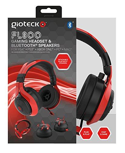 Gioteck - Auricular Flow 300 Bt, Color Rojo