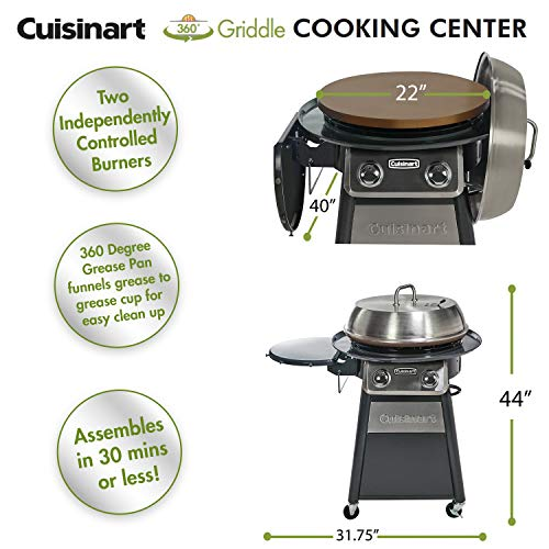Cuisinart CGG-888 Stainless Steel 22-Inch Round Gas Grill