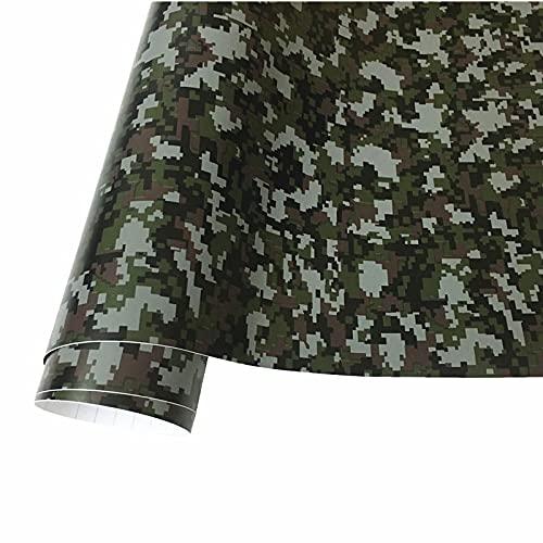 50cmx152cm camuflaje vinilo pvc etiqueta engomada de carro envoltura ejército militar verde camuflaje calcomanía lámina para auto envoltura de motocicleta ZSSGSHR (Color Name : D color)