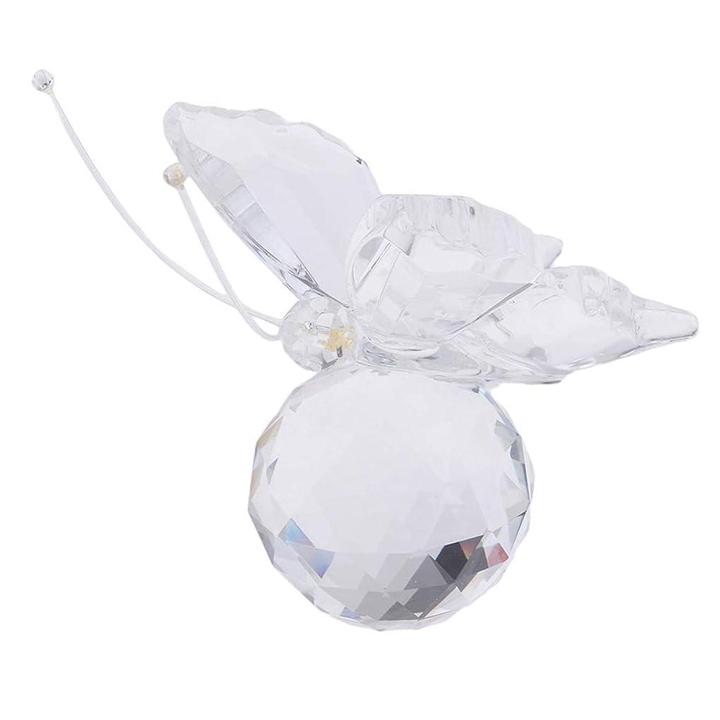 受賞半導体宇宙船Perfeclan バタフライ ガラス クリスタル 置物 家族 友人 贈り物 全6色 - クリア