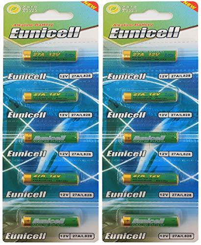 Eunicell 10 x 27 A 12 V MN27, A27, V27GA, L828, GP27A (2 paquets de 5 piles) - FBA