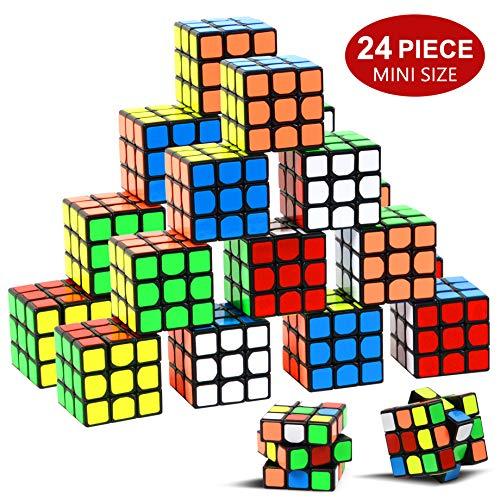 Nunki Toy Party Puzzle Spielzeug, 24 Pack Mini Würfel Set Party Favors Cube Puzzle, 1.18 Inch Puzzle Magic Cube umweltfreundliche Safe Material mit lebendigen Farben