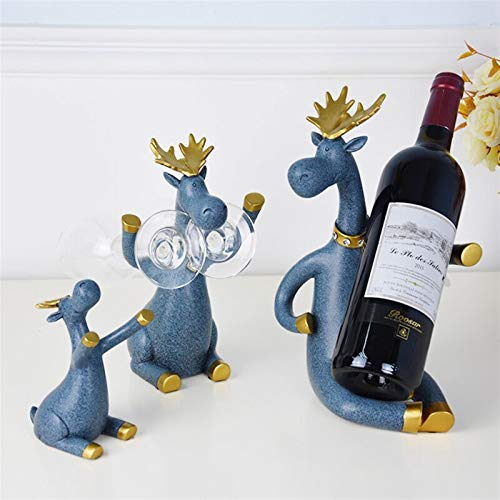 Botellero de Vino, 3 unids/set Rantos de vino Figuras miniatura de los ciervos Pie sobre el titular de la cerveza del whisky Cabina del soporte de la botella de vino tinto para la decoración del hog