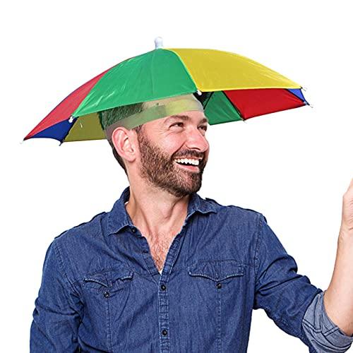 Sombrilla sombrero adulto y niños plegable cabeza paraguas impermeable pesca pesca playa pesca fiesta golf